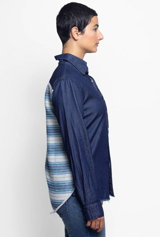NSF Leslie Stripe Back Shirt Rinse