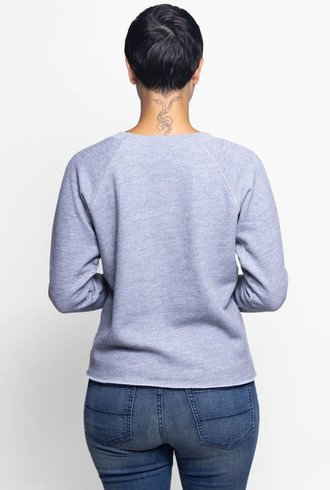 NSF Carolina Long Sleeve Sweatshirt Heather Grey