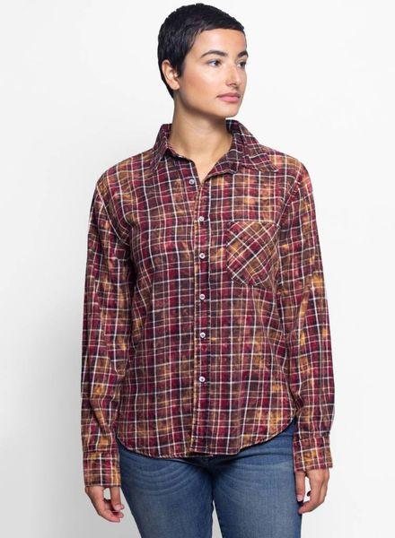 NSF Axel Plaid Shirt Burgundy