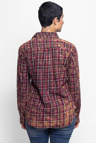 NSF Axel Plaid Shirt Burgundy