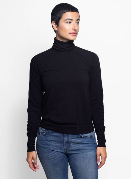 NSF Huldah Fleece Turtleneck Black