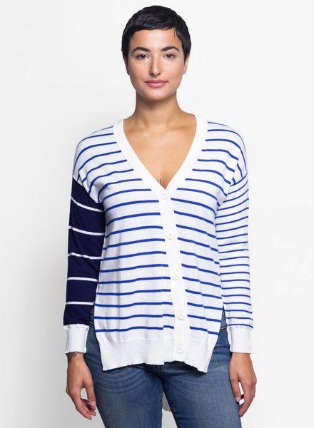 NSF Bryn Mix Stripe Sweater Chalk/Navy