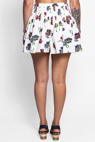 Ulla Johnson Alita Shorts Cream Floral