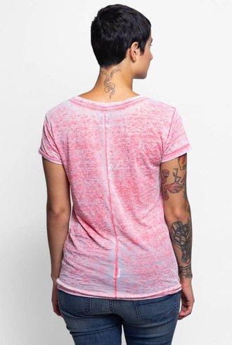 NSF Talulah Short Sleeve Burnout Tee Pink
