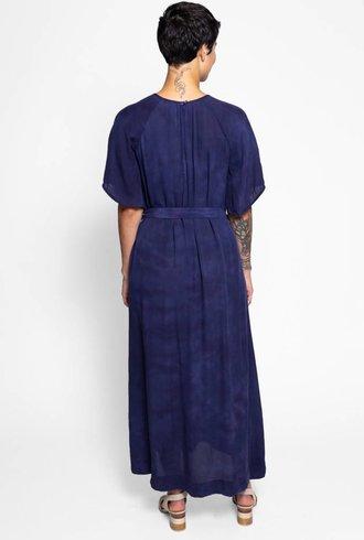 Raquel Allegra Reversible Flutter Sleeve Dress Night