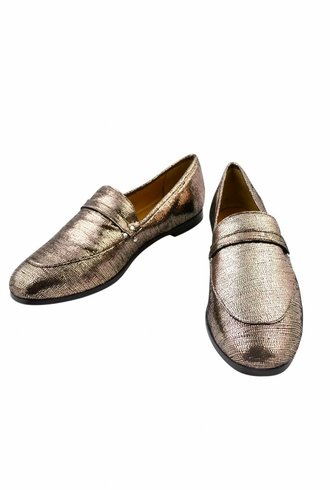 Jerome Dreyfuss Gabi Loafer Lame Champagne