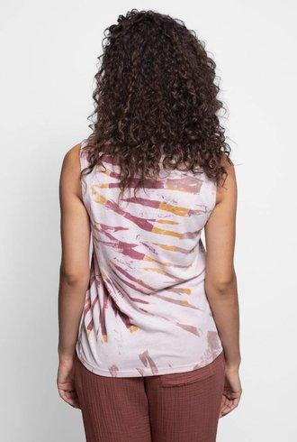 Raquel Allegra Fitted Muscle Tank Red Rock Tie Dye