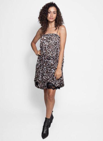Loyd/Ford Pleated Dress Leopard