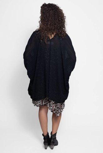 Loyd/Ford Pleated Cape Black