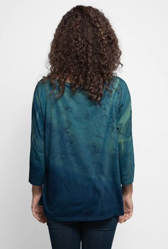 MA+CH 3/4 Sleeve Boat Neck Wallflower Mineral