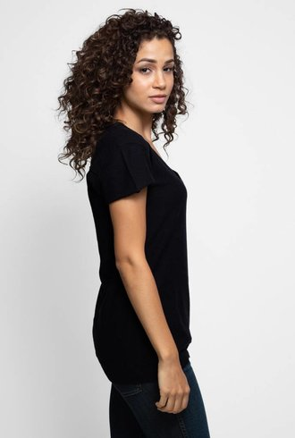 Inhabit Cotton Cashmere T-Shirt Black