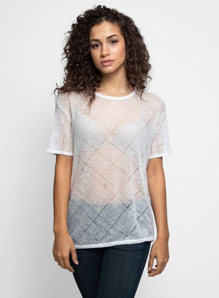 Inhabit Linen Texture Tee White