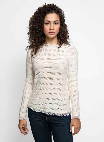 Inhabit Cotton Fringe Crew Natural