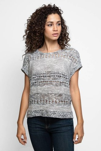 Inhabit Cotton Blend Relaxed Pull Pewter