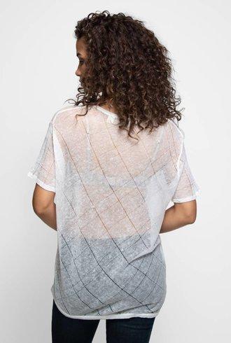Inhabit Linen Texture Tee White