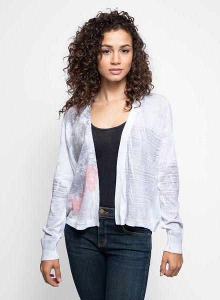 MA+CH Cotton Knit Open Cardi Blush Stella