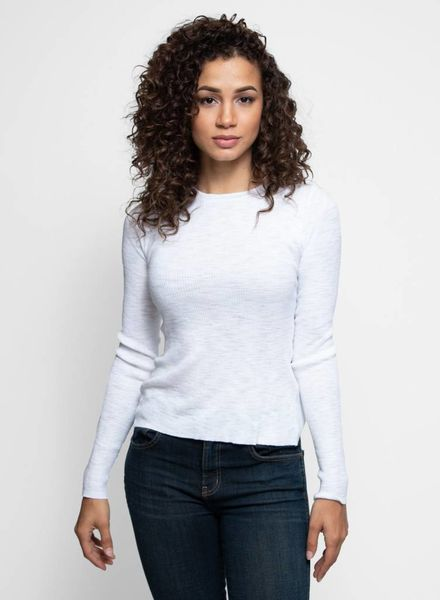 360 Sweater Marva Long Sleeve X-back Tee Bleachwhite