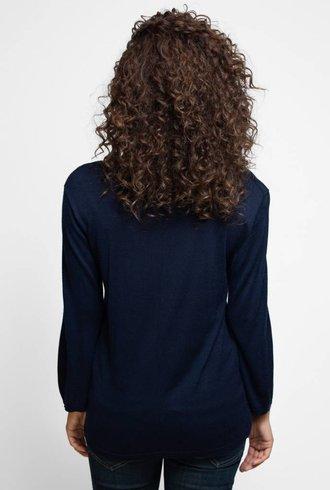 Kokun Wide Sleeve Top Navy