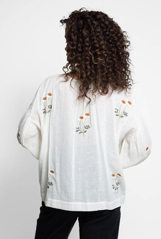 The Great The Pintuck Tunic Cream