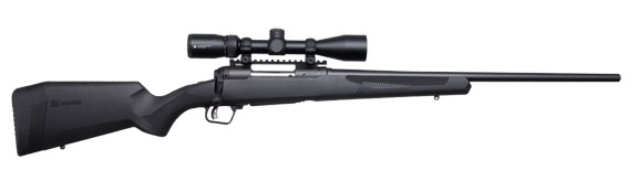 SAVAGE SAVAGE 110 APEX HUNTER XP RIFLE, 22-250 REM, W/ VORTEX SCOPE, BLACK