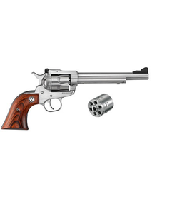 "RUGER RUGER SINGLE SIX CONVERTIBLE REVOLVER, 22LR/22WMR, 6-1/2"" BARREL, STAINLESS"