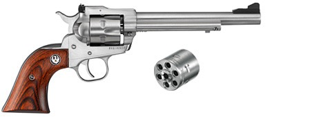 """RUGER RUGER SINGLE SIX CONVERTIBLE REVOLVER, 22LR/22WMR, 6-1/2"""" BARREL, STAINLESS"""