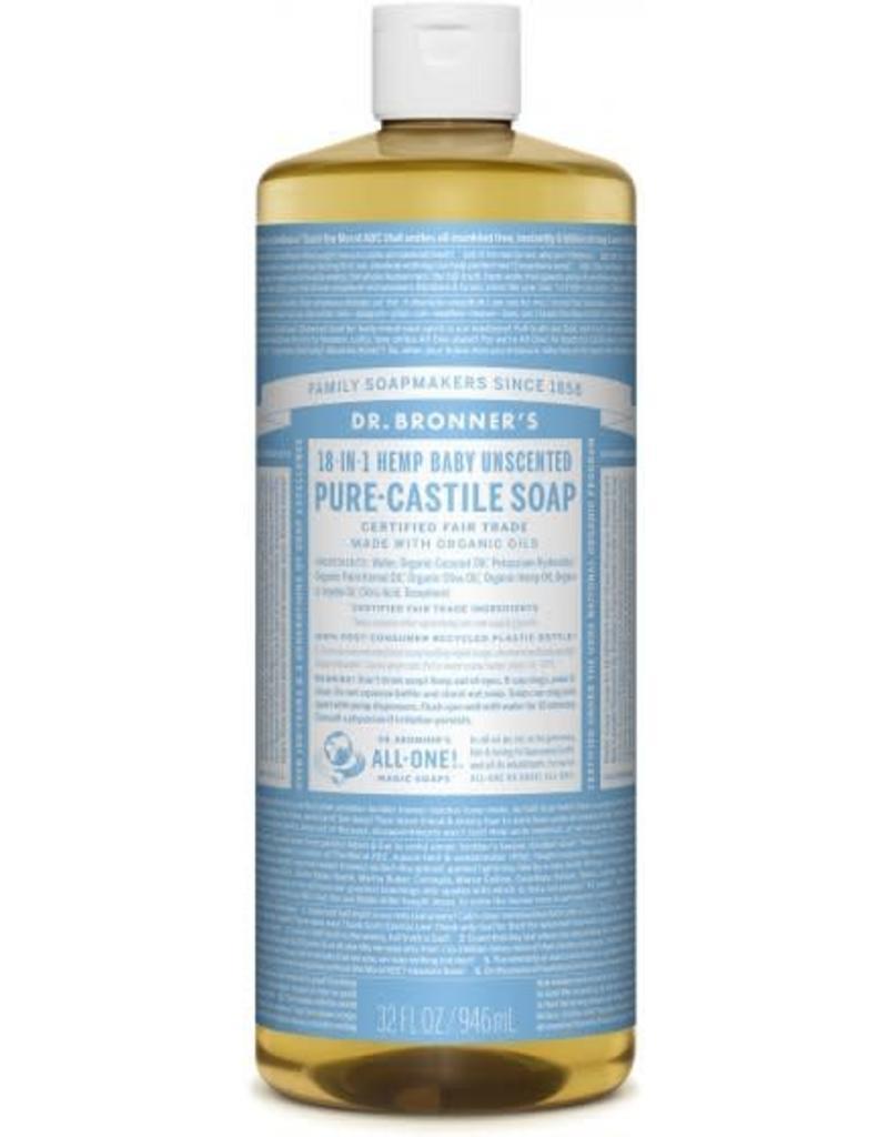 Dr. Bronner's Dr. Bronner's Unscented Castile Soap 946 ml