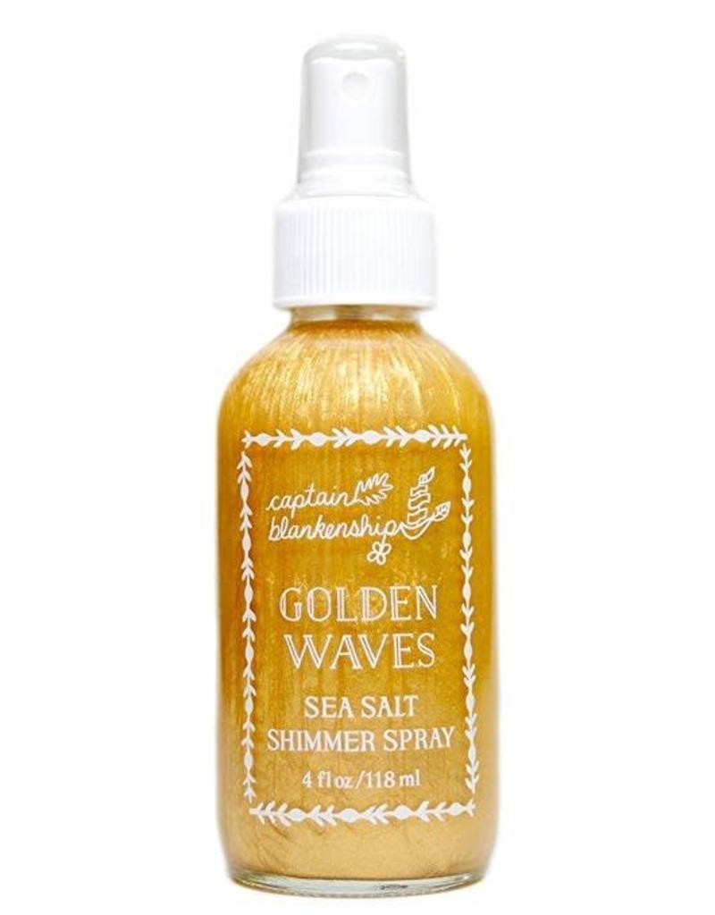 Captain Blankenship Golden Waves Sea Salt Shimmer Spray 4 oz