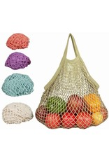 Eco-Bags 100% Cotton Tote Handle String Bag - sage