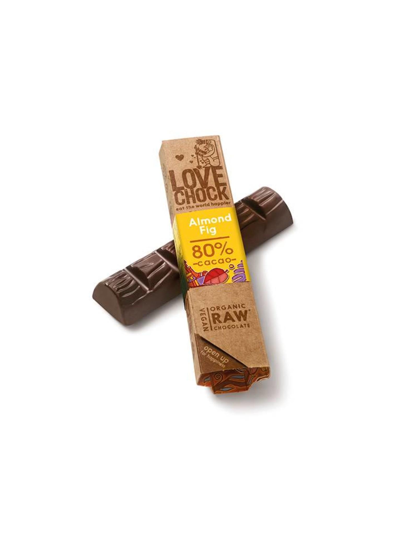 Lovechock Almond Fig Organic Raw Chocolate