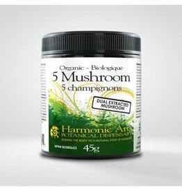 Harmonic Arts 5 Mushroom Dual Extract Powder