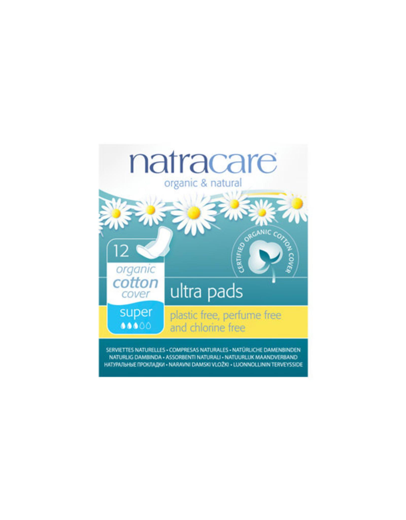 Natracare Organic Cotton Ultra Pads Super