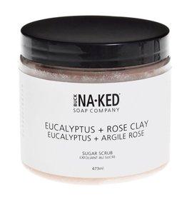 Buck Na.ked Soap Company Eucalyptus + Rose Clay Sugar Scrub