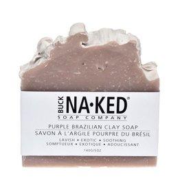 Buck Na.ked Soap Company Purple Brazilian Clay Soap