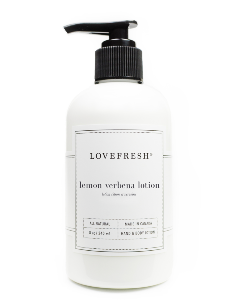 lovefresh Lemon Verbena Hand & Body Lotion