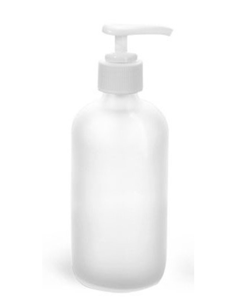 Garden City Essentials 8 oz Frosted Glass Bottle With White Pump