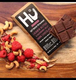 Hu Kitchen Cashew Butter + Raspberry Jelly Dark Chocolate Bar