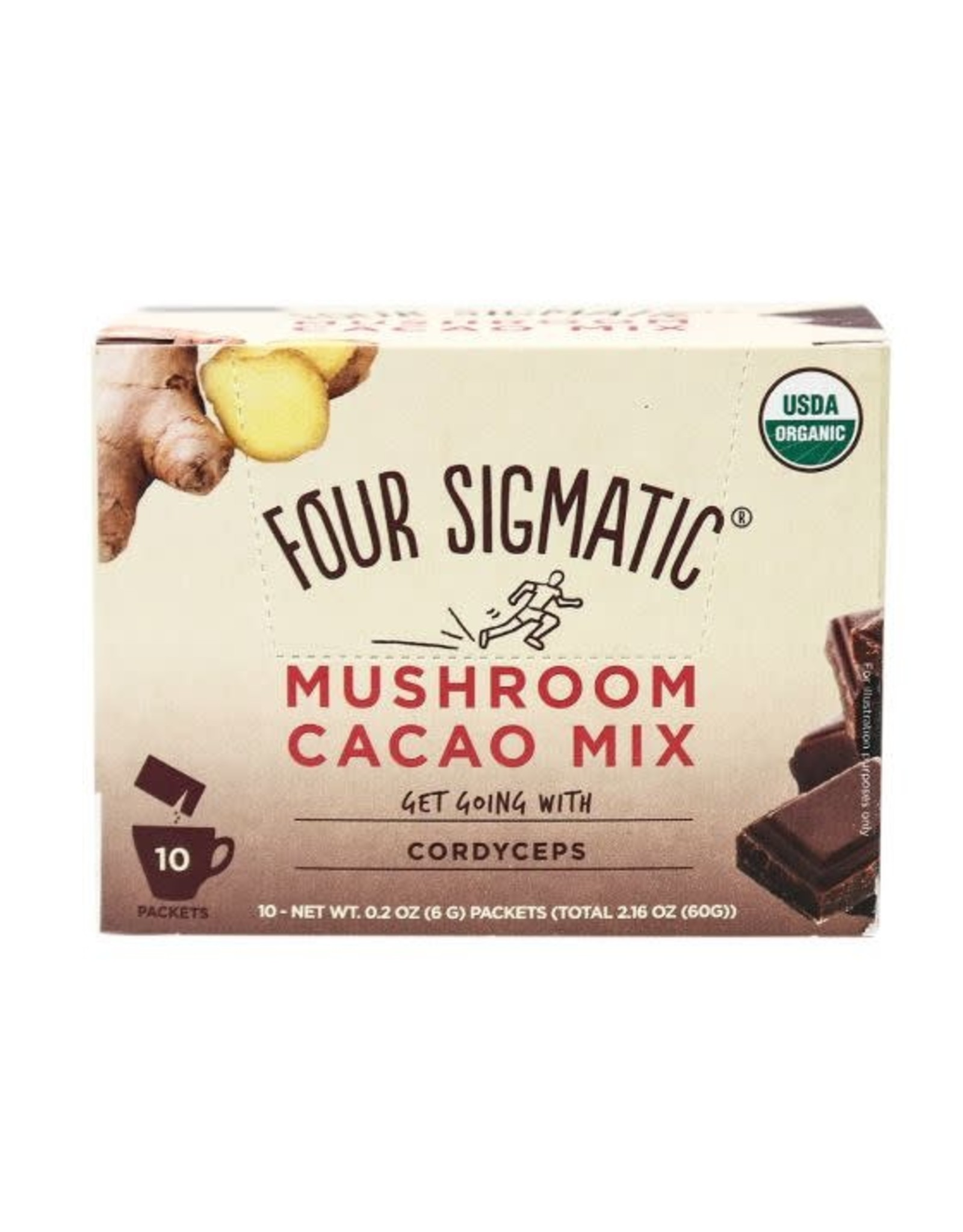 Four Sigmatic Mushroom Hot Cacao with Cordyceps (single)