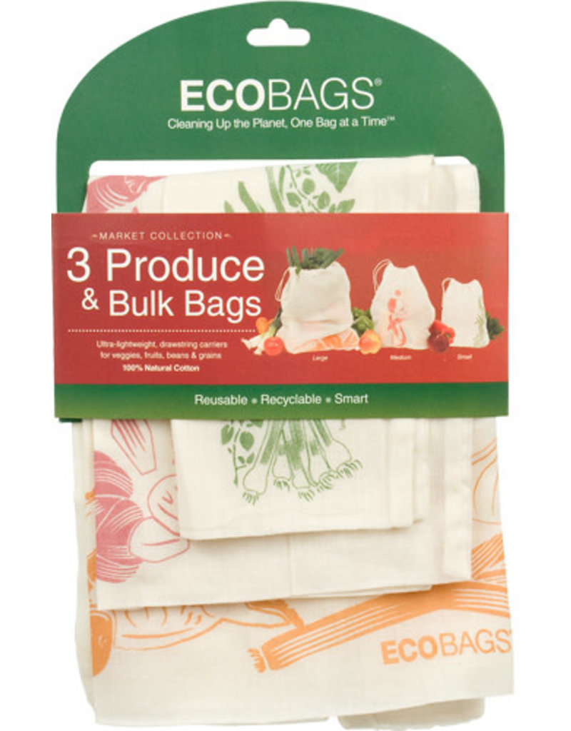 Eco-Bags Printed Produce Bags - set of 3