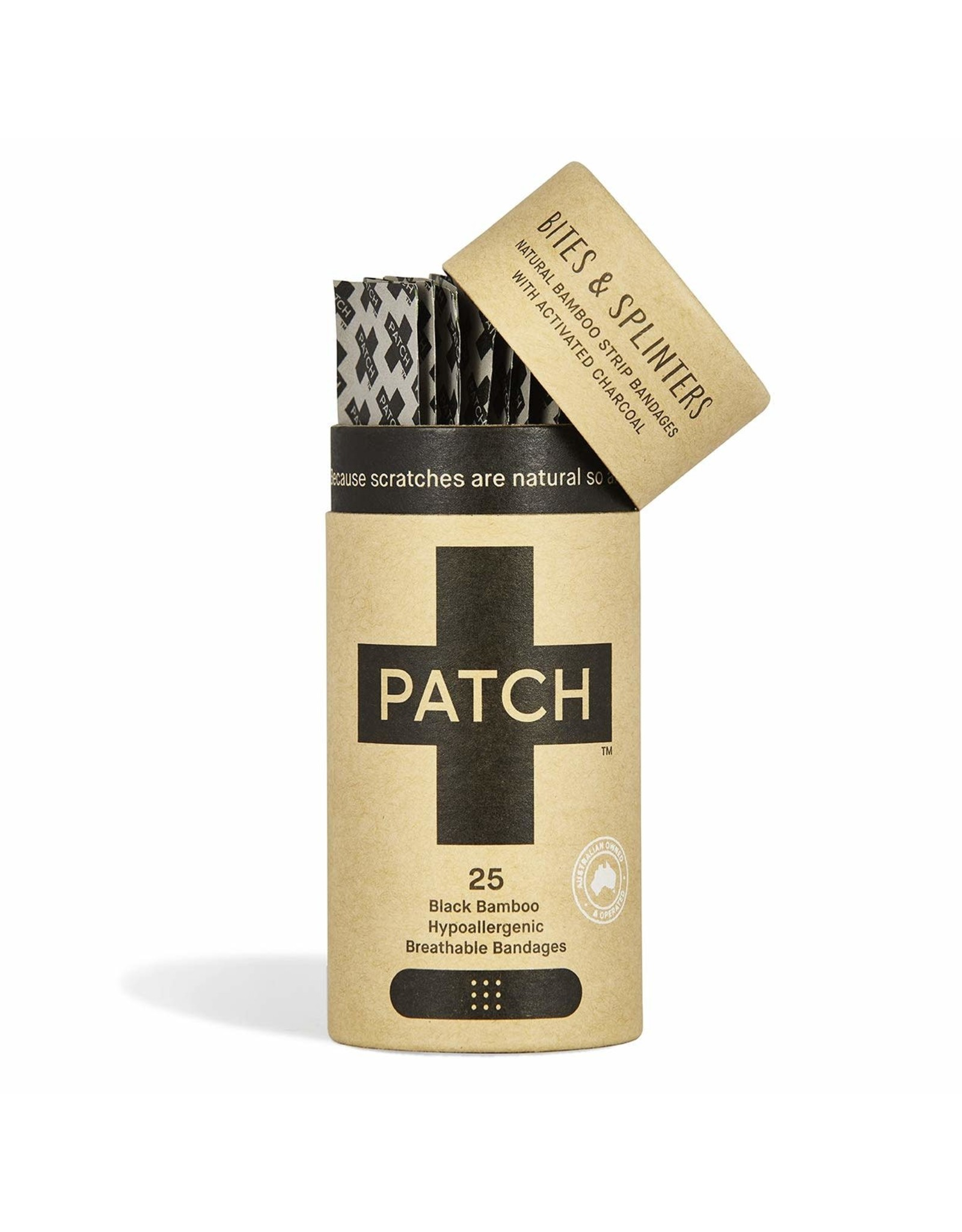 Patch Organic Bamboo Adhesive Strip Bandages (charcoal)