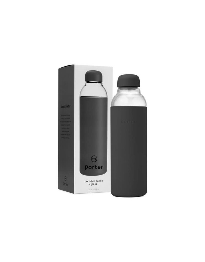 W&P Design Porter Glass Water Bottle - Charcoal