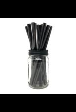 Mason Jar Lids Black Stainless Steele Straw