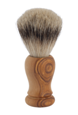 Redecker Shave Brush - Olive Wood / Badger