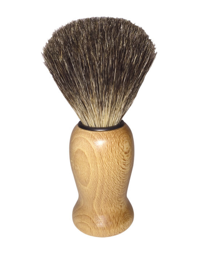 Redecker Shave Brush - Waxed Beechwood / Badger