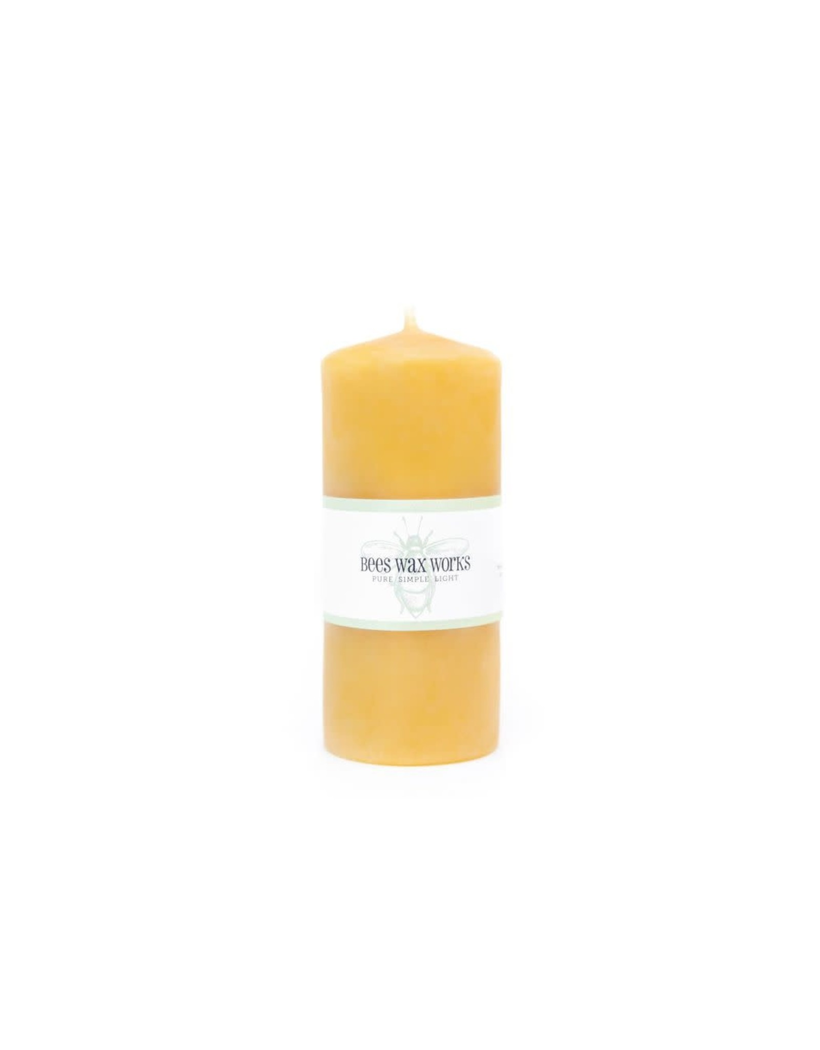 Bees Wax Works Five Inch Pillar Candle