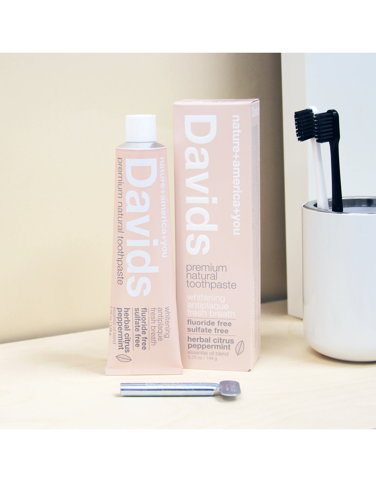 David's Davids Premium Natural Toothpaste - Herbal Citrus Peppermint