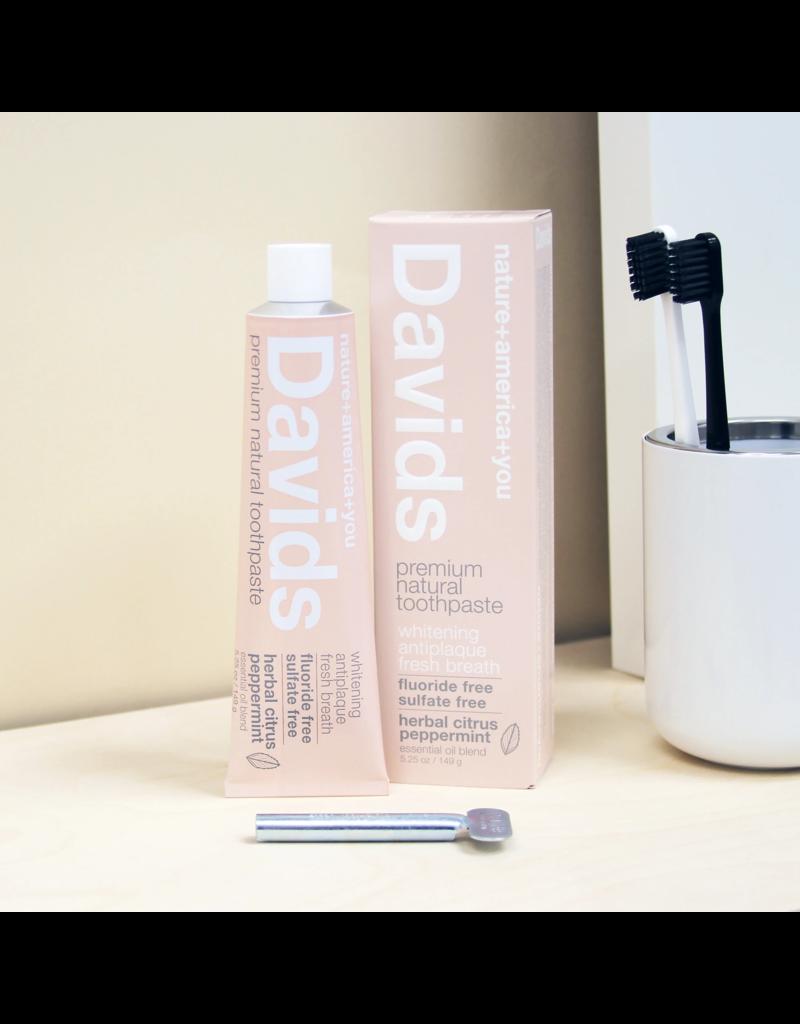 David's Davids Premium Natural Toothpaste - Herbal Citrus Peppermint