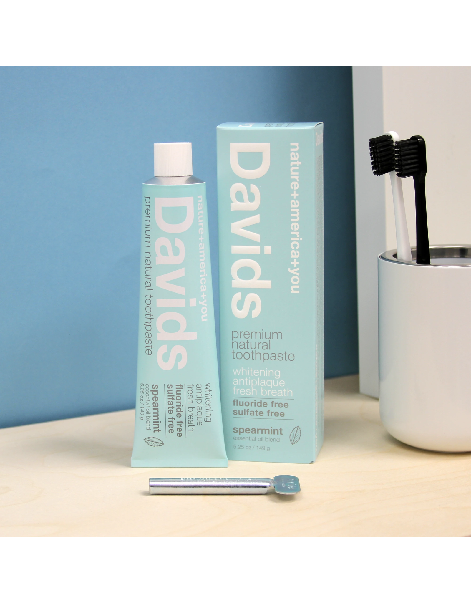 David's Davids Premium Natural Toothpaste - Spearmint