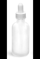 Garden City Essentials 2 oz frosted glass bottle with glass bulb dropper