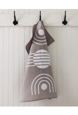 Ten & Co Tea Towel Arc White on Grey
